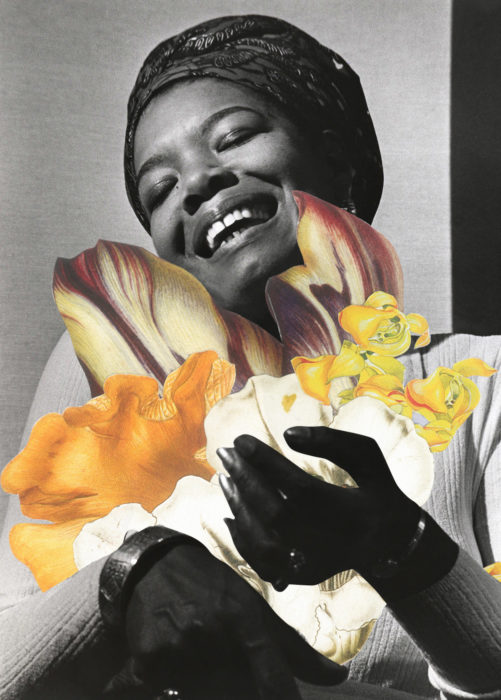 A collage of Maya Angelou